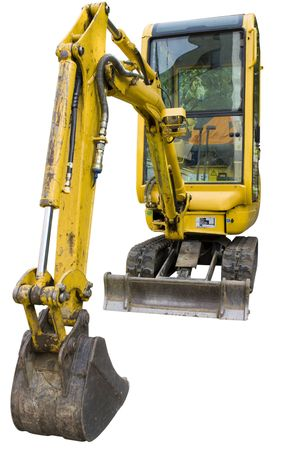 Small excavator isolated on white background Stock Photo - 3635997