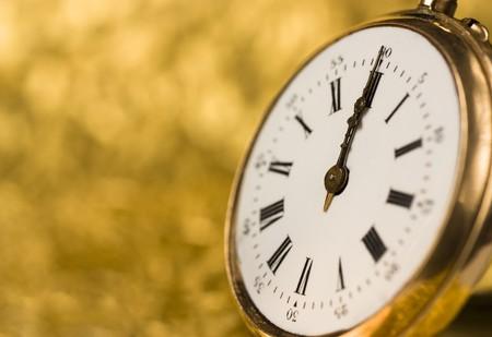 Detail of an old vintage clock
