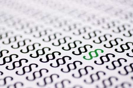 Green paragraph between black paragraphs Stock Photo - 4614685