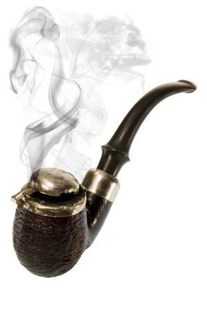 Tobacco pipe and death's-head