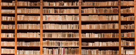 old books: Posten der alten B�cher in einer alten Bibliothek Lizenzfreie Bilder