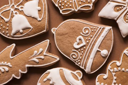 Christmas gingerbread on the plate