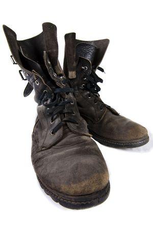 dirtiness: Old army boots