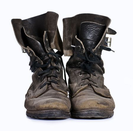 boot shoes: Old army boots
