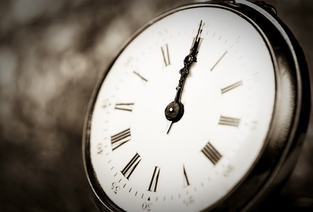 Detail of an old vintage clock photo