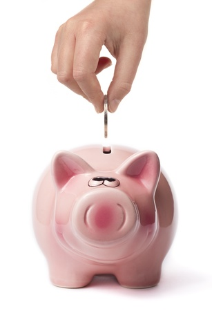 A pig to save your money in time Stock Photo - 9135013