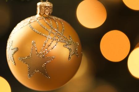 Golden christmas ball Stock Photo - 9135674