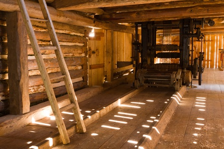 sawmill: Old water-powered sawmill Editorial