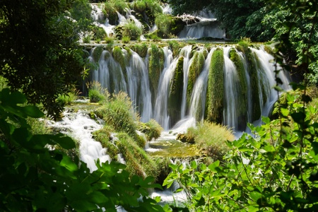 Skradinski Buk - world famous waterfall on the Krka river, Krka national park, Croatia, summer 2011