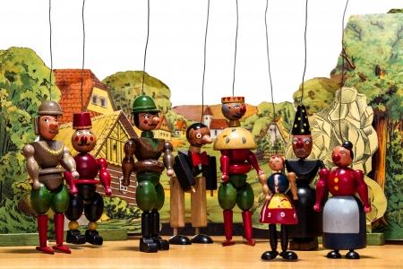 marioneta de madera: Marionetas de madera vieja