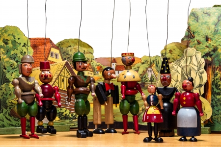 Old wood marionettes Stock Photo