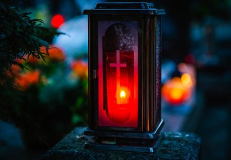 All saints - remembrance day, graveyard