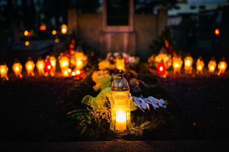 hallowmas: All saints - remembrance day, graveyard