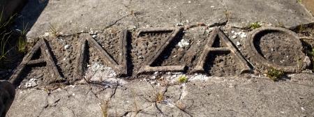 anzac: ANZAC headstone,graveside,Australia and New Zealand,forgotton soldier,forgotten graveside Stock Photo