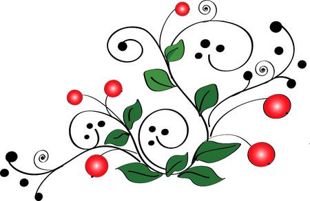 healthful: cranberries (vector)