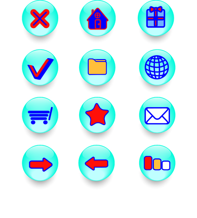web icons and buttons for your site Vector