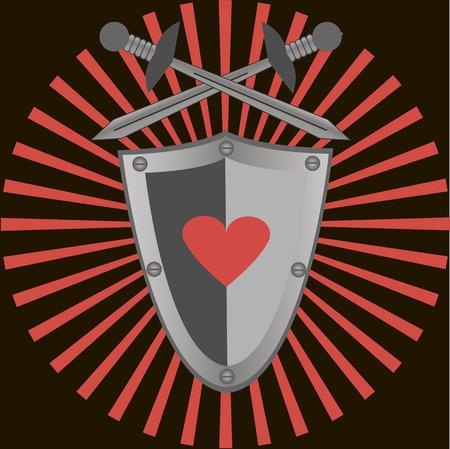 excalibur: Swords and shield Illustration