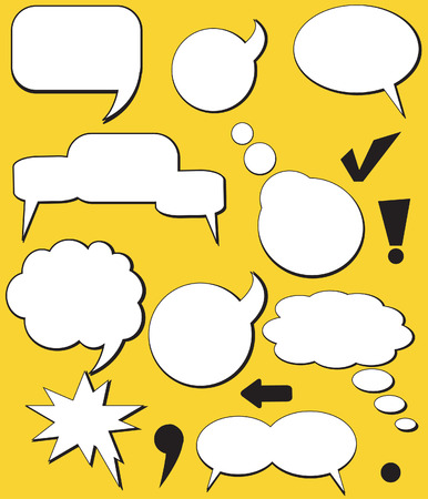 conversing: Speech balloons. Vector. Illustration