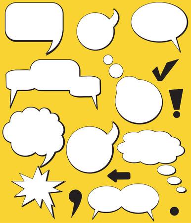 Speech balloons. Vector. Ilustra��o