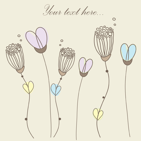 Retro floral card.  Ilustra��o