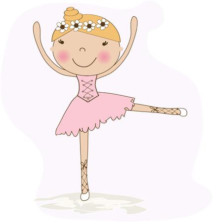 Small ballerina. Vector illustration. Vector