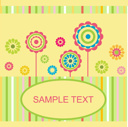 Floral card. Vector. Stock Vector - 6343815