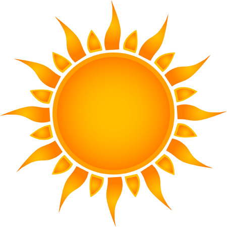sun: Sun symbol Illustration