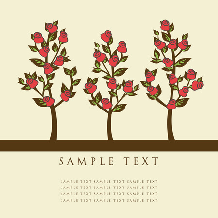 Rose trees. Vector