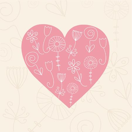 Heart card. Vector