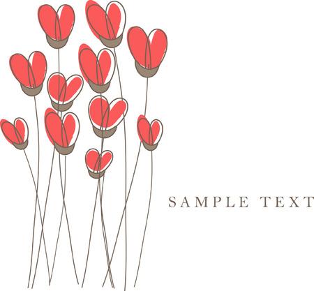 Heart card. illustration. Stock Vector - 6410707
