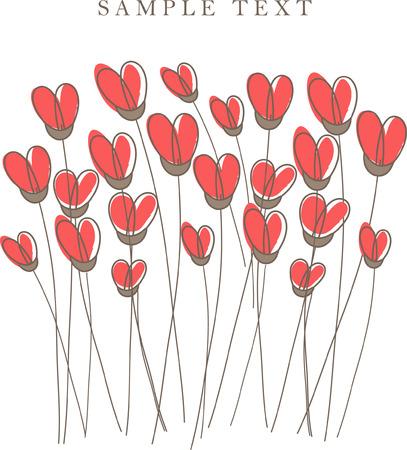 Heart card. illustration. Stock Vector - 6410709