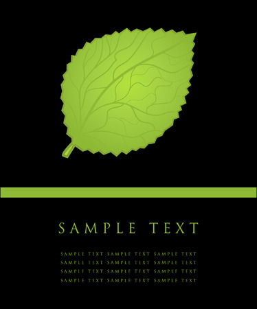 three leaves: Green leaf
