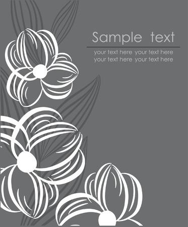 Floral retro card. illustration. Illustration