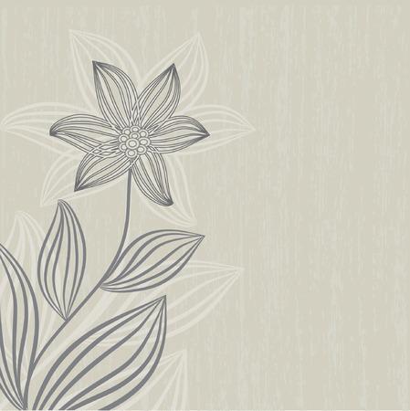 Floral card.  illustration. Vector