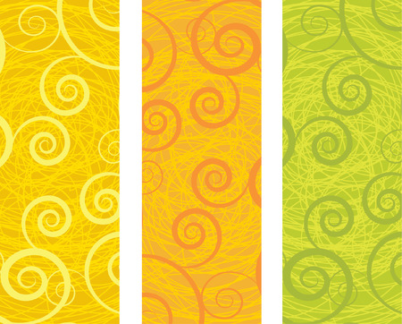 abstract swirls:  Abstract banners.  Illustration