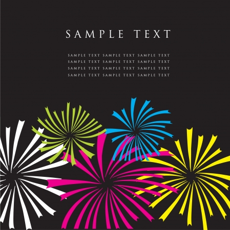 event party festive: Fireworks. Vector greeting card.