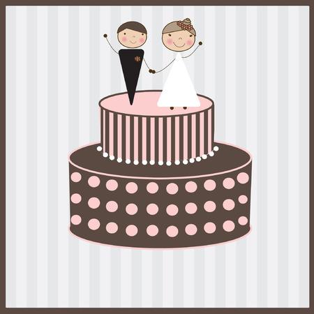 engagement cartoon: Wedding background