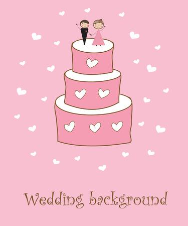 heiraten: Hochzeit-Hintergrund  Illustration