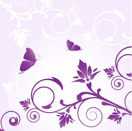 Floral greeting card. Vector