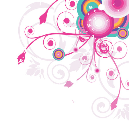 Multicolored floral background Vector