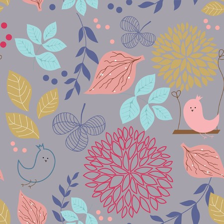 Bright Floral seamless pattern Stock Vector - 7807374
