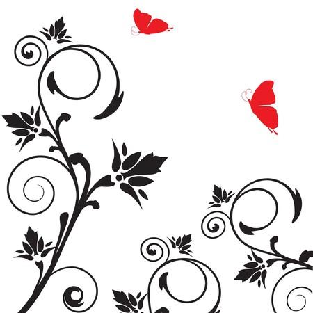whitern: Floral card.  illustration.