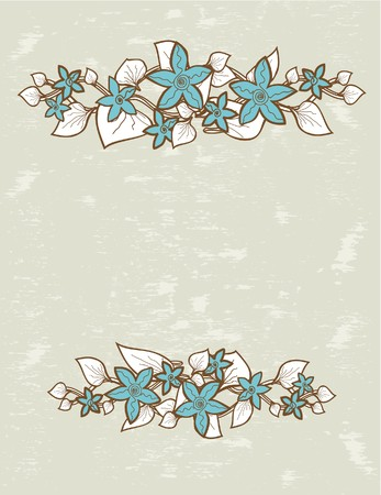 whitern: Floral card.  illustration.