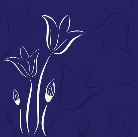 whitern: Floral card.   illustration.  Illustration