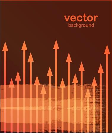 Orange arrows  Vector