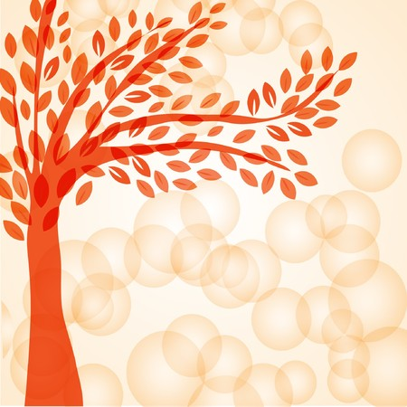 Abstract  background with red tree.