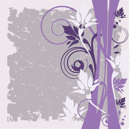 whitern: Grunge floral background.   Illustration