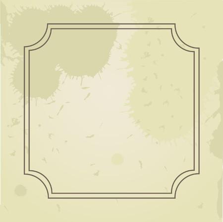Grunge frame.Vintage  card. Stock Vector - 7707035