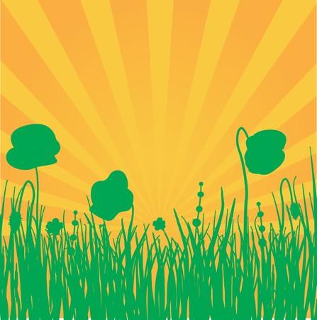 Summer landscape illustration. Stock Vector - 7706942