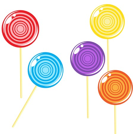 lolly pop:   illustration of multicolored Lollipops